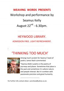 Image of the Flyer for Weaving Words workshop