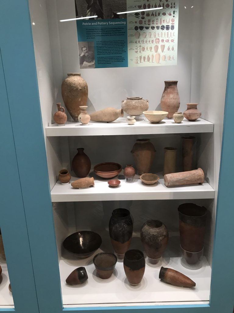 Photo of Ancient Egyptian storage jars and utensils