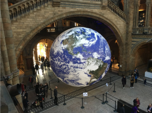 An image of the Gaia installation in The Natural History Museum in London